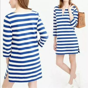 J. Crew Blue & Ivory Striped Dress Tunic XXS